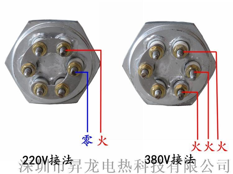 銅法蘭綠不鏽鋼加熱管蒸汽機電子鍋爐電熱管發熱管817376802