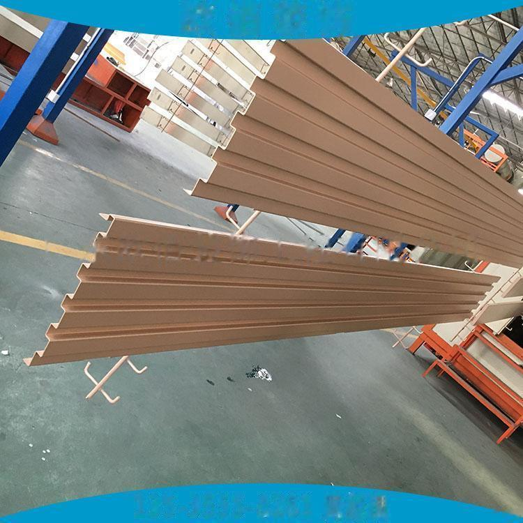 广告门头装饰凹凸型铝板定制  仿木纹长城铝板101546955