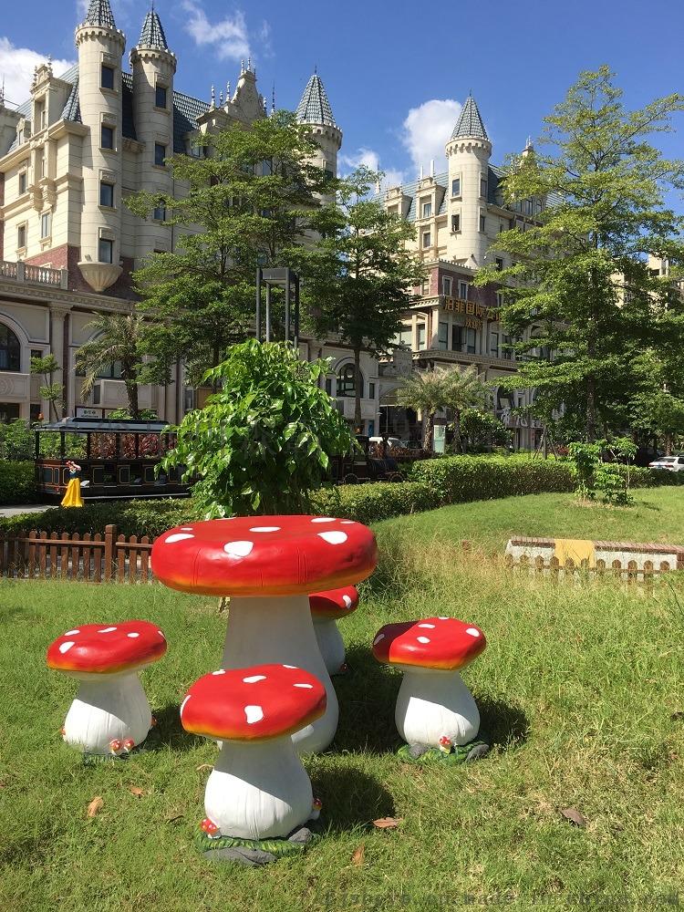树脂工艺品花园庭院草地摆件 卡通仿真大蘑菇摆件800237105