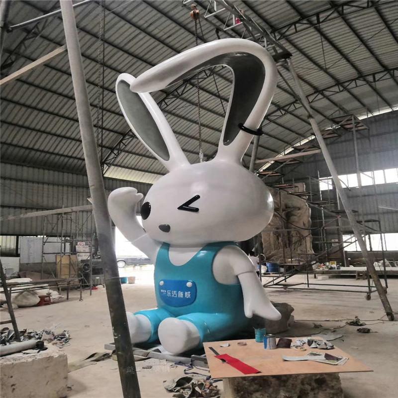 玻璃钢白兔雕塑 楼盘小区景观卡通雕塑造型952997505
