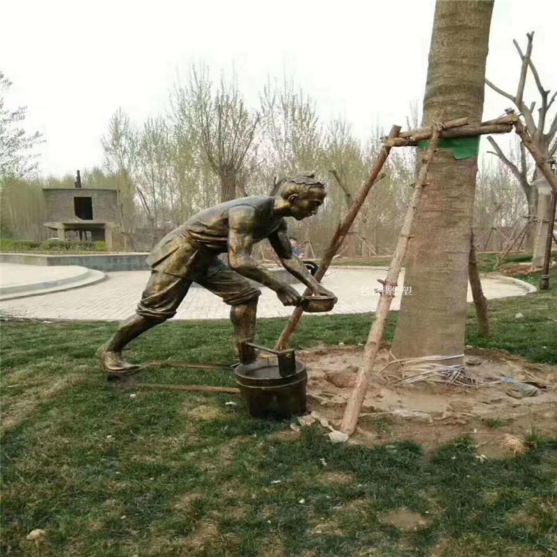 贵州玻璃钢人物雕塑 农耕文化雕塑119680792