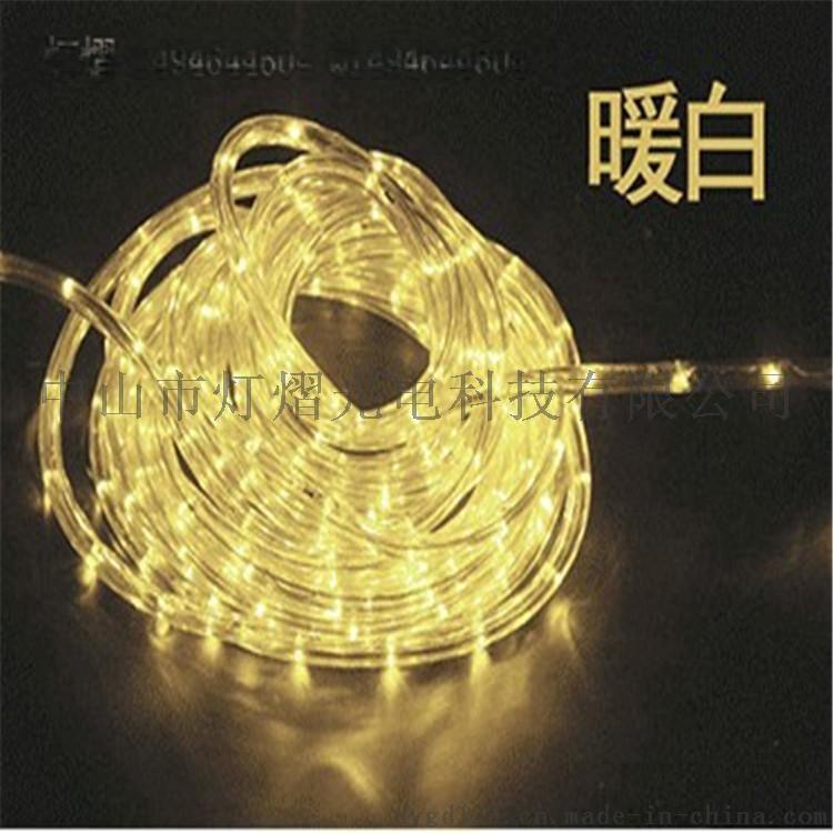 廠家直銷LED燈帶 戶外防水圓二線 彩虹管770066845