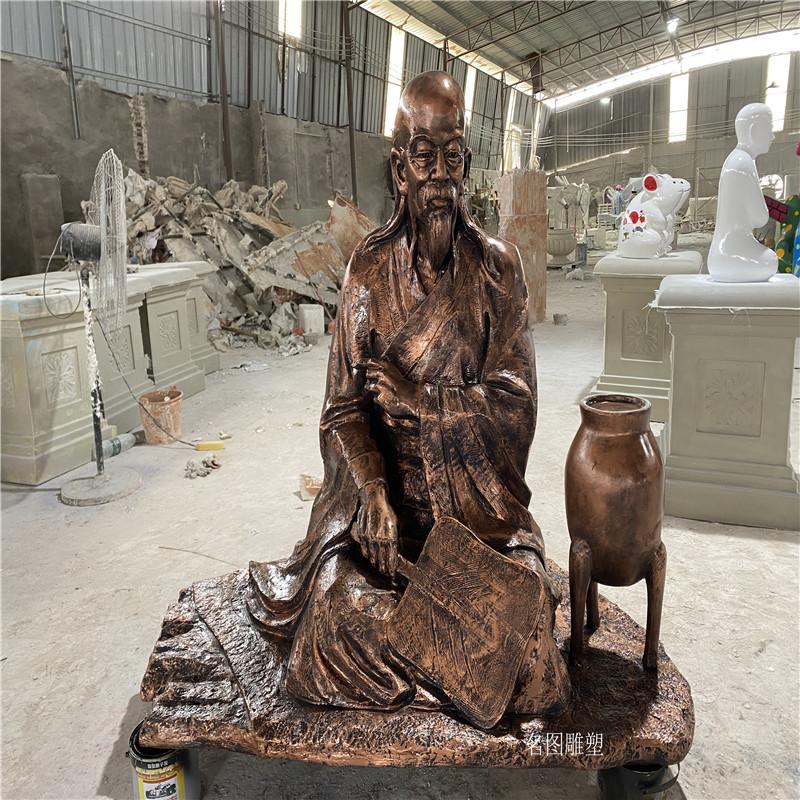 佛山高明玻璃钢雕塑定做 仿铜人物玻璃钢雕塑135233825