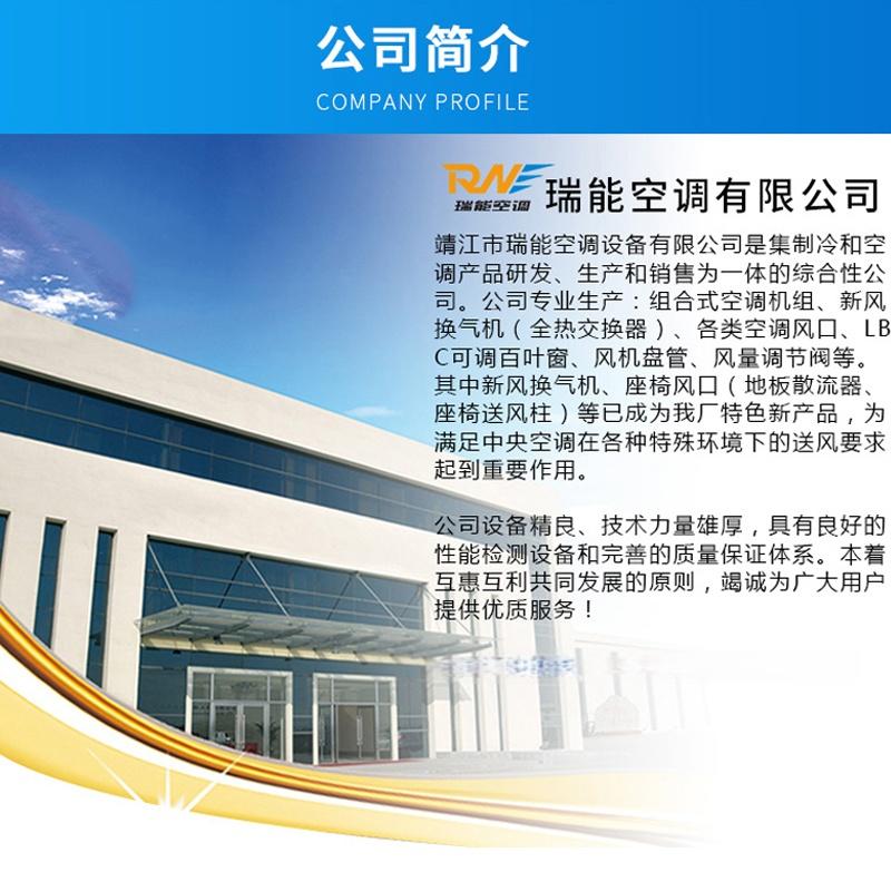 瑞能网咖火锅店商用新风系统 新风换气机 全热交换器106322282