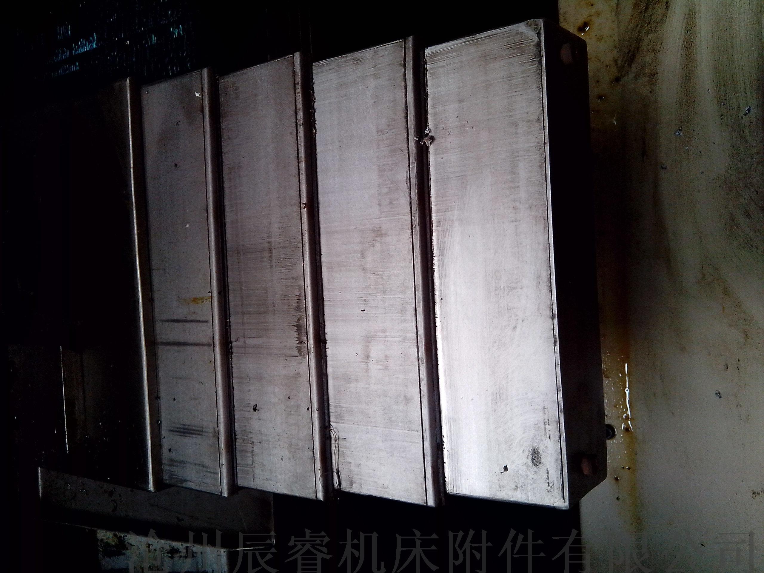 数控机床导轨钢制防护罩 沧州嵘实钢制防护罩827045625