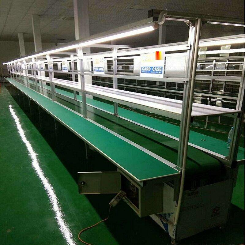實力工廠定製電子廠車間流水線 防靜電皮帶輸送線91230472