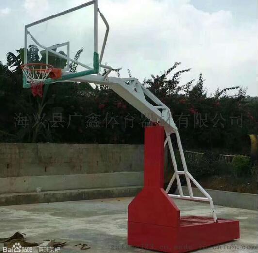 紅白平箱籃球架