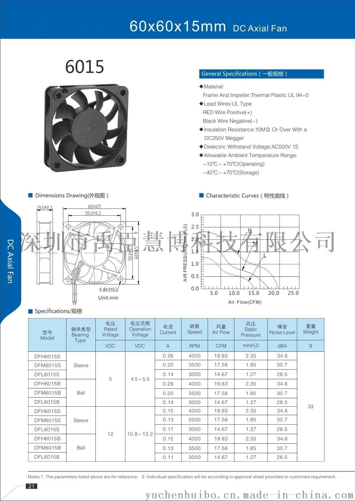 ychb6015液压轴承含油轴承散热风扇大量现货59047145