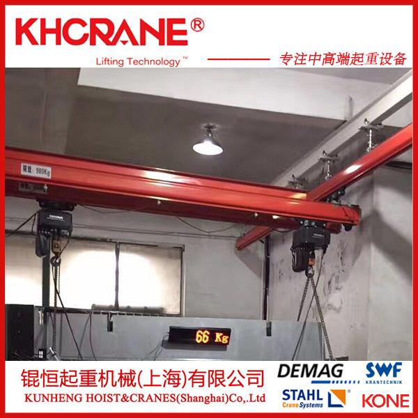 125kg立柱式悬臂吊kbk轨道手动旋臂起重机、847899005