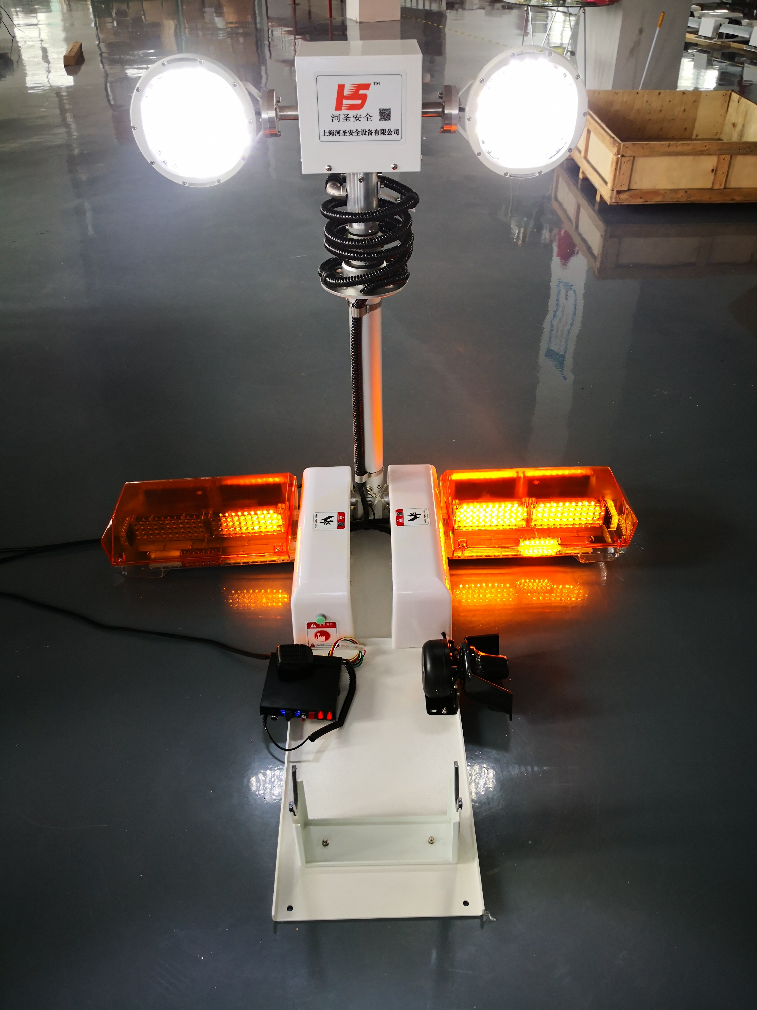 河聖牌 一體化升降照明燈 車載顯示照明設備廠家89279822