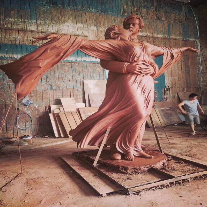 佛山玻璃钢情侣艺术雕塑、玻璃钢人物造型雕塑804094222