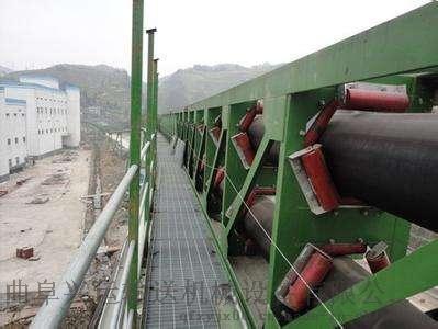 沙石用管状输送机   圆管状皮带运输机35046892