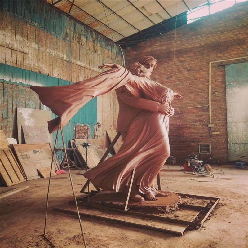 佛山玻璃钢情侣艺术雕塑、玻璃钢人物造型雕塑804094192