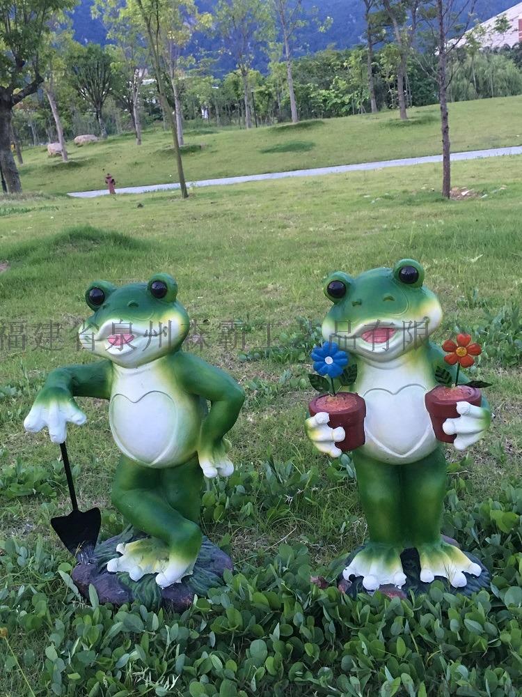 卡通仿真青蛙摆件 户外玻璃钢动物雕塑园林景观工艺品800218715