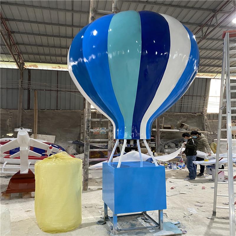 海南玻璃钢气球雕塑 楼盘广场仿真热气球雕塑道具954462575