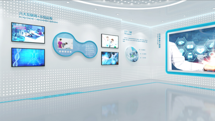 郑州企业多媒体展厅装修设计公司,企业展厅装修标准867680932