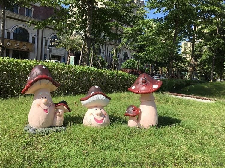 树脂工艺品花园庭院草地摆件 卡通仿真大蘑菇摆件85578265