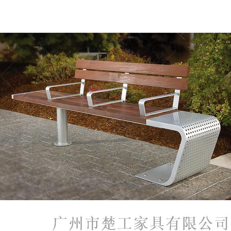 钢木园林景观座椅,室外木制创意休闲坐凳122969285