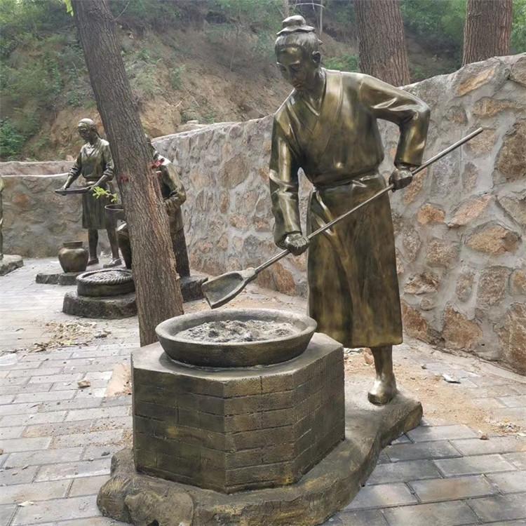 玻璃钢农耕雕塑 户外景观仿铜人物雕塑934024055