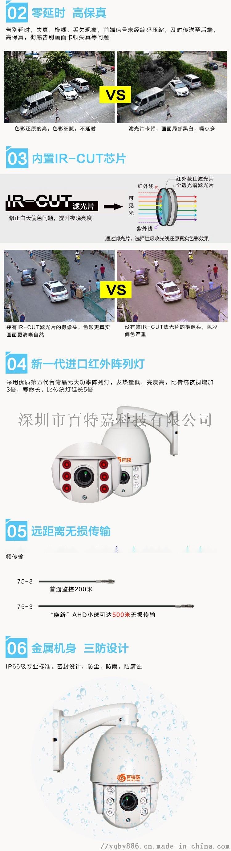 AHD 高清监控摄像头  模拟球机91358675