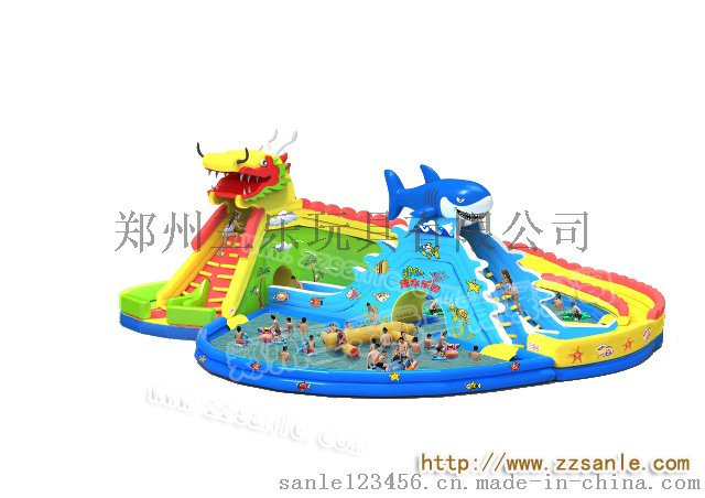 儿童游泳池支架水池SL-0015冰雪世界充气水滑梯41992112