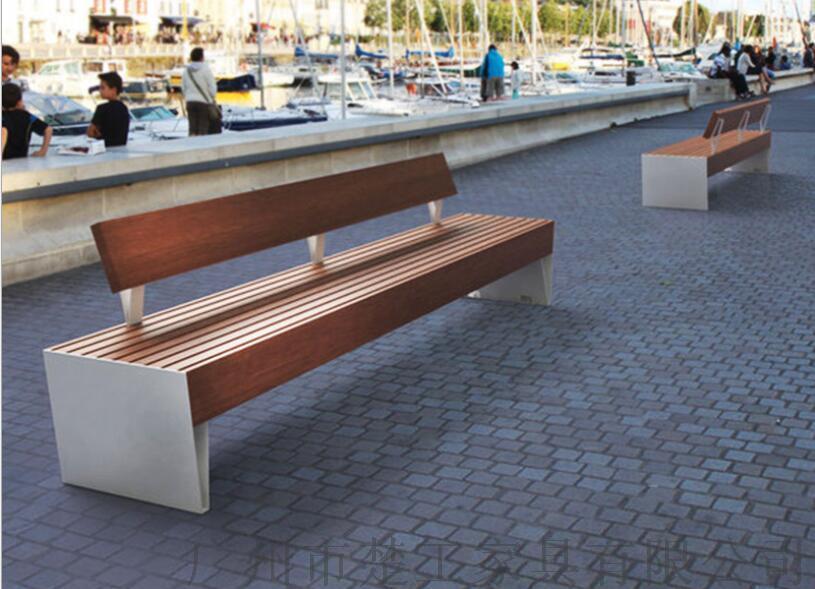 钢木园林景观座椅,室外木制创意休闲坐凳122969275