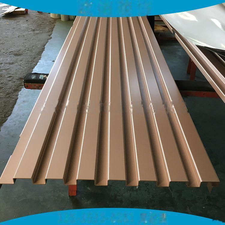 广告门头装饰凹凸型铝板定制  仿木纹长城铝板101546905