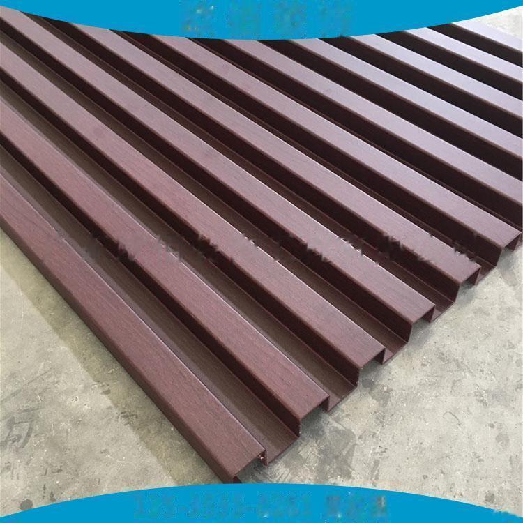 广告门头装饰凹凸型铝板定制  仿木纹长城铝板101547225