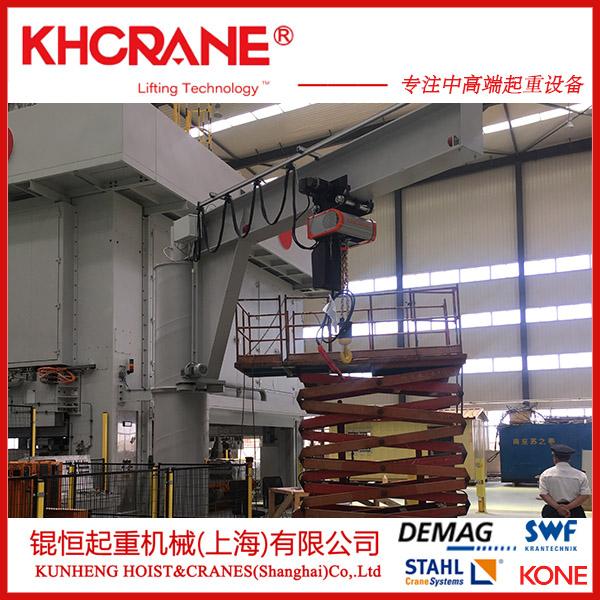 锟恒供应2t立柱式悬臂吊 电动旋转单臂吊墙壁吊116290115