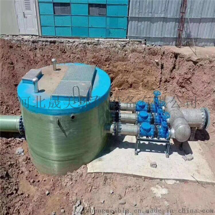 地埋式玻璃钢污水提升装置 污水提升泵站的特点858262542