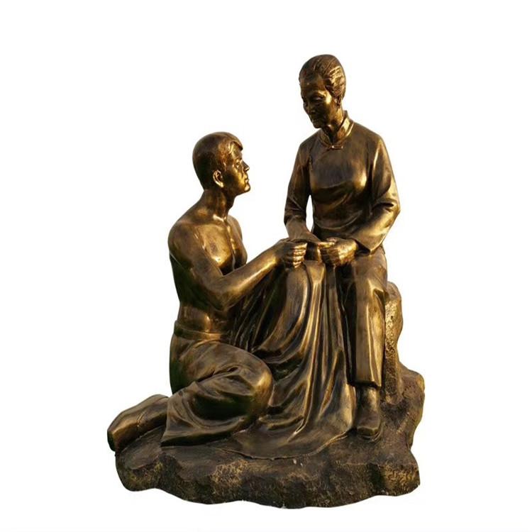 玻璃钢农耕雕塑 户外景观仿铜人物雕塑934024035