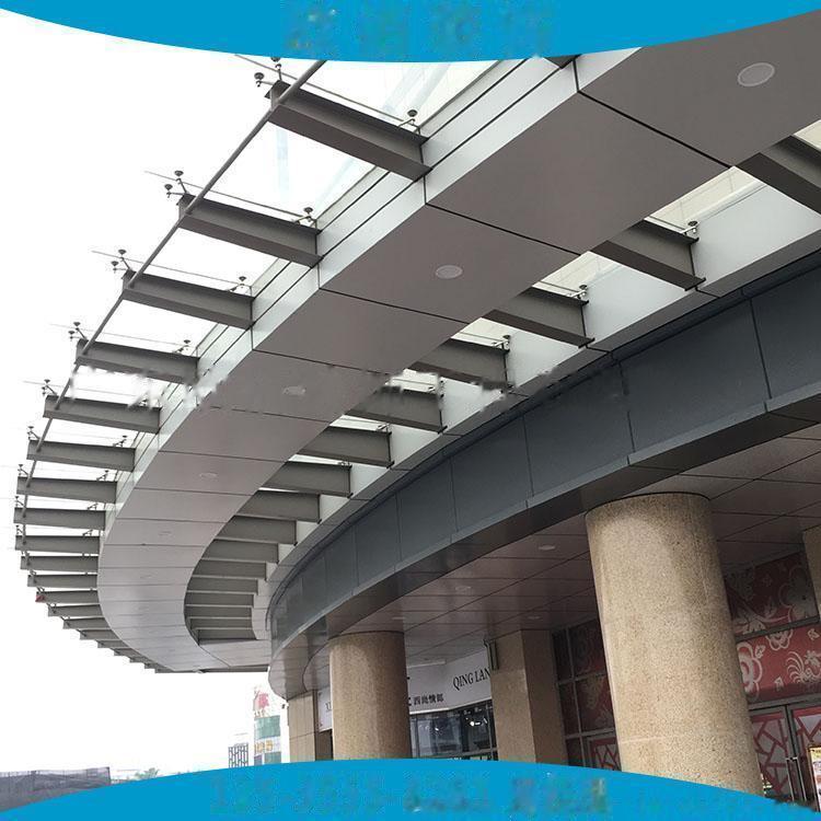 2mm车站飘蓬装饰银灰色氟碳铝单板 2.5mm雨棚氟碳银色铝单板65352905