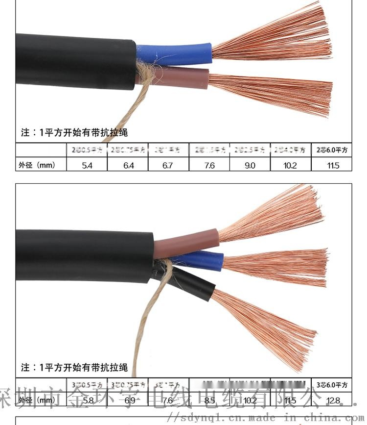金环宇电线电缆供应RVV2芯软护套电源线国标信号线87392085