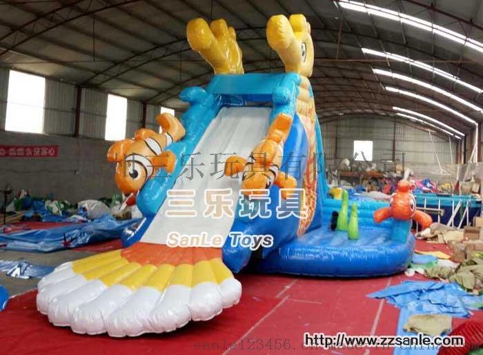 儿童游泳池支架水池SL-0015冰雪世界充气水滑梯41992142