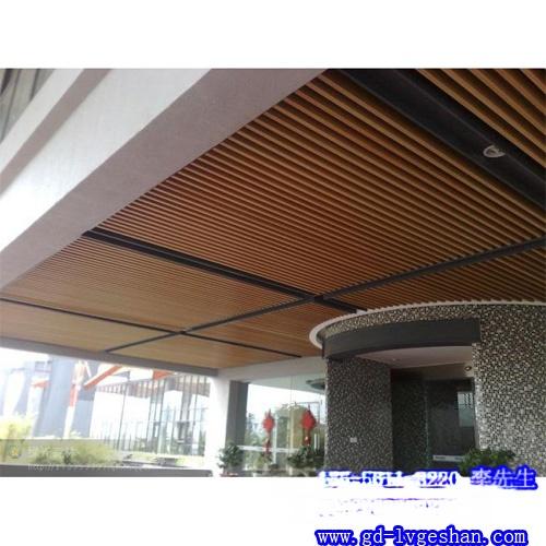 酒店铝方通吊顶案例图 铝方通吊顶效果图 铝方通厂家