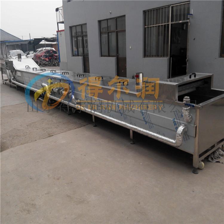 土豆莲藕漂烫预煮设备 豆角漂烫机 网带式漂烫线86984152