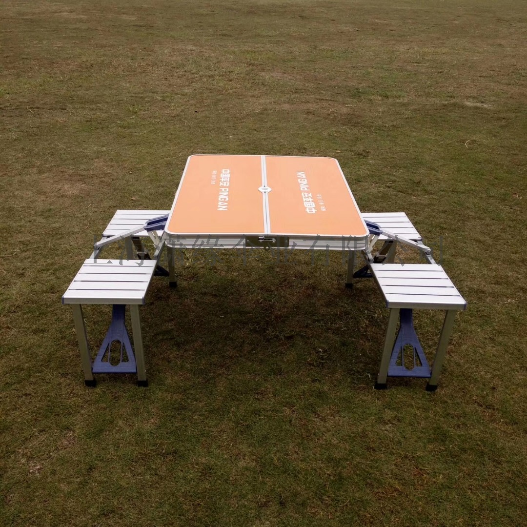 铝合金连体折叠桌便携式休闲野餐摆摊桌可折叠桌椅118434042