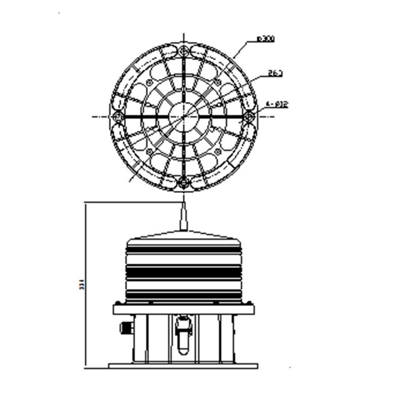 LM40中光强A型航空障碍灯尺寸图1.jpg