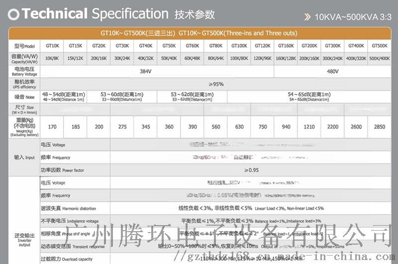 宝星UPS电源 天王星系列GT10K-GT500K120631085