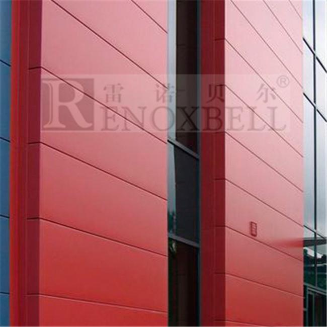 2.5mm  3mm  4mm Modern Red Aluminum Facade Panel.jpg