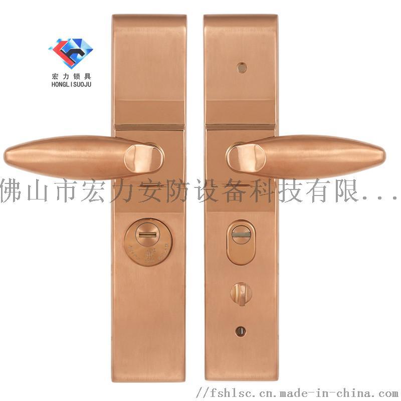 宏力锁厂直销南宁市防盗门执手锁,智能指纹锁820638485