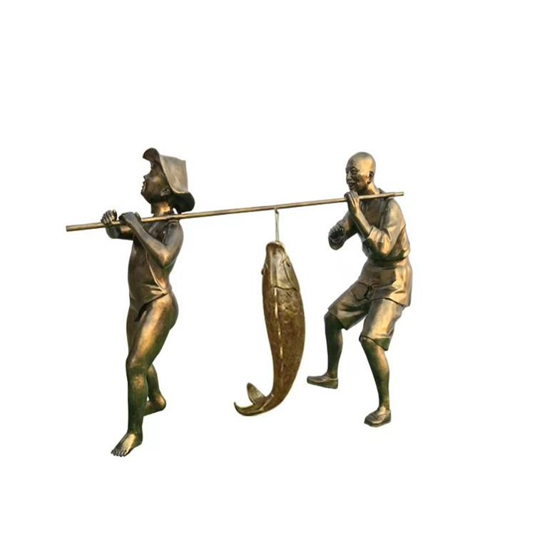 玻璃钢农耕雕塑 户外景观仿铜人物雕塑146526515