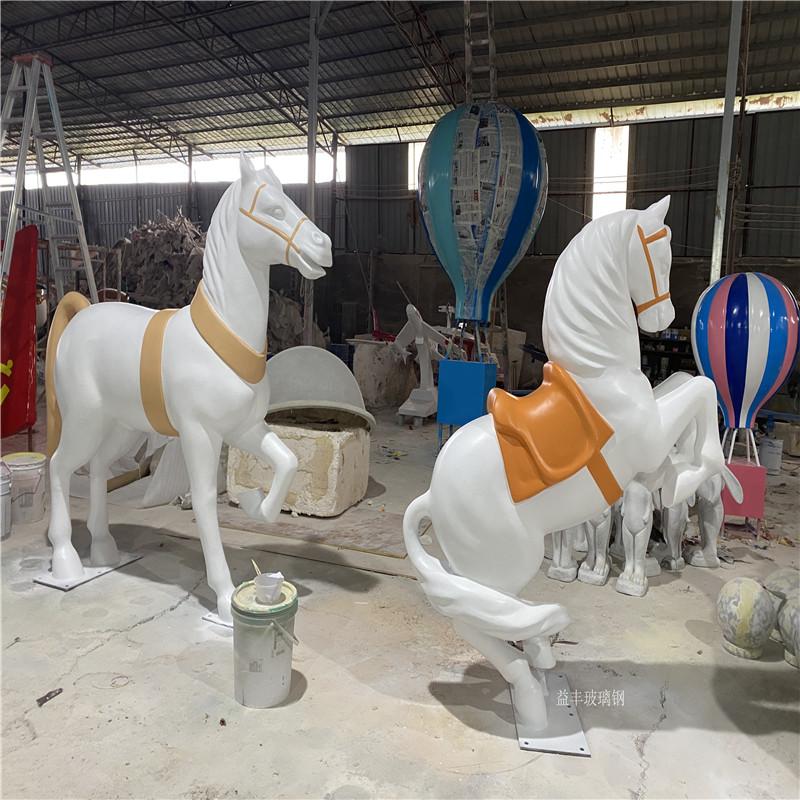 圣诞节装饰玻璃钢白马雕塑 仿真动物雕塑造型953644515