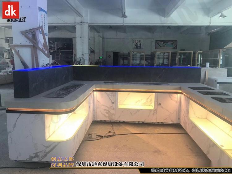 杭州省人民医院体检中心自助餐台 单位用餐取餐台设计制作1.jpg