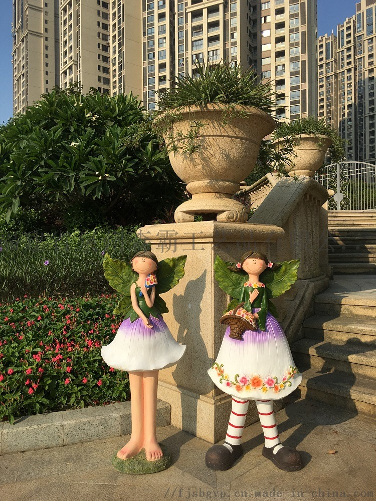 卡通花仙子雕塑工藝品花園戶外幼兒園擺件批發85543915