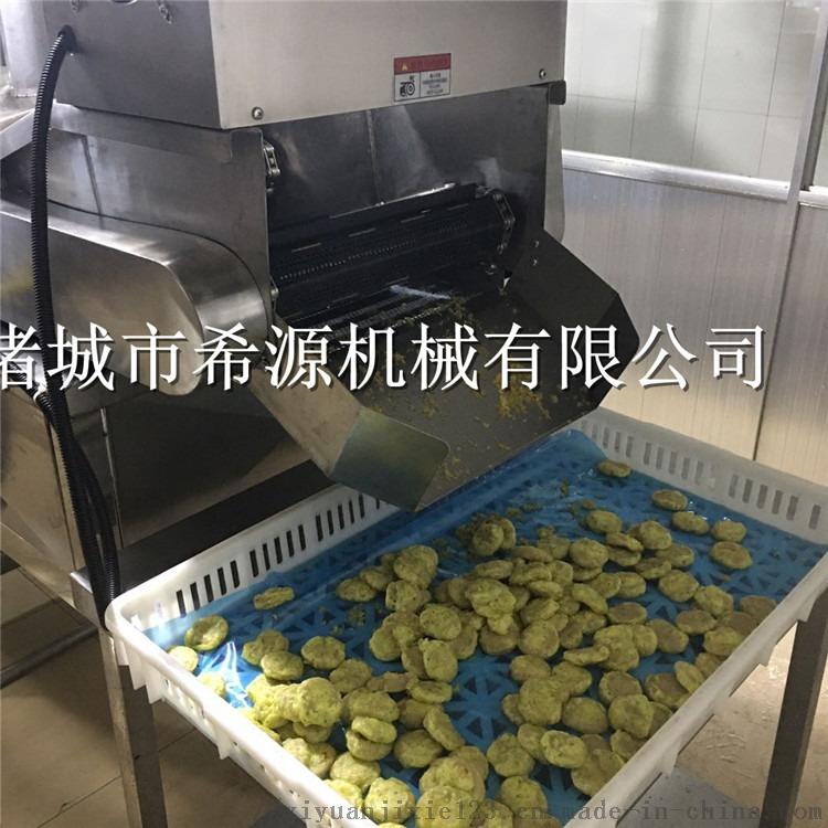 热销烟台鱼肉饼油炸机 速冻鱼饼上浆油炸生产线843092322