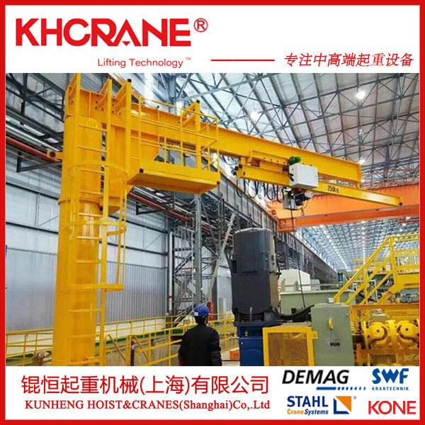 锟恒供应2t立柱式悬臂吊 电动旋转单臂吊墙壁吊860234065