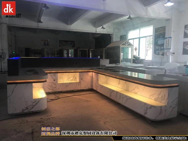杭州省人民医院体检中心自助餐台 单位用餐取餐台设计制作5.jpg