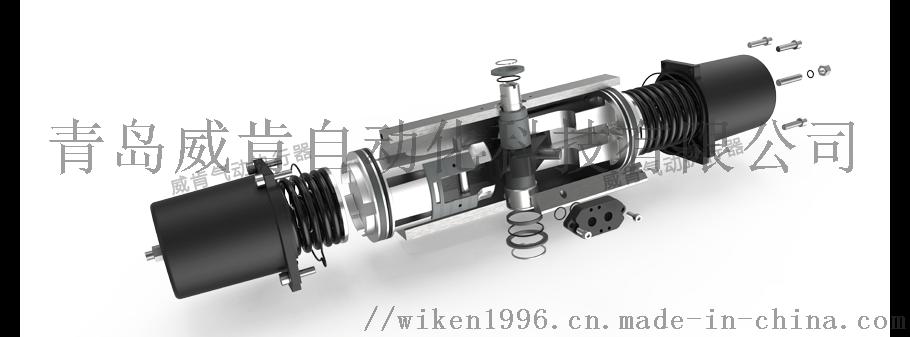 不锈钢气动对夹球阀德国威肯智能型气动球阀厂家定制102347282