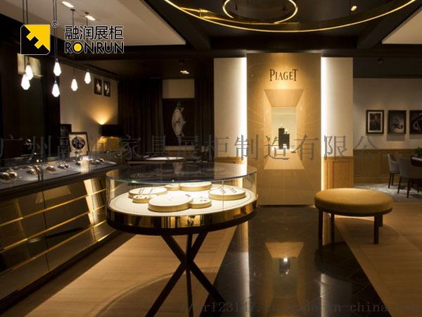 融潤展櫃定做珠寶店珠寶展櫃 不鏽鋼珠寶櫃檯製作105912355